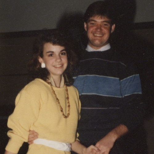 Kevin & I as partners in our junior high show choir
