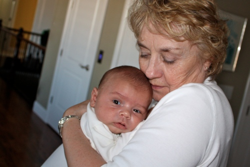 Grandma Judy & Cole at 2 months