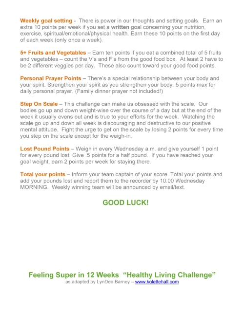 Microsoft Word - Healthy Living Program Rules.doc